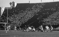 Large sections of the massive Los Angeles Coliseum were unfilled during Super Bowl I, as football was still a growing sport and fans gave little credence to the American Football League and its Chiefs. The Packers' regular-season game against the hometown Rams drew a bigger crowd than the Super Bowl.