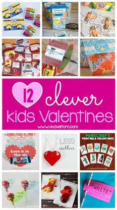 Cute and clever Valentines ideas for kids!  These fun crafts are adorable for Valentine's Day and most include free printables!