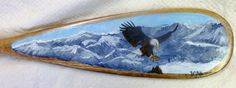 paddle with hand painted Eagle Paddles, Moose Art, Eagle, Hand Painted, Paintings, Animals, Decor, Paint, Animales