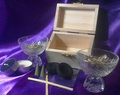 """Hedge Witch Boxed Spell Kit """"Call Forth The Dead"""". Pagan, Wicca Witchcraft, Hedge Witch, Incense Cones, Little Boxes, Tea Light Candles, Wands, Spelling, Herbalism"""