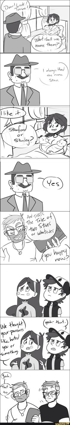 """""""That too"""" I like to think that's how they name them #GravityFalls #Stan #Ford"""