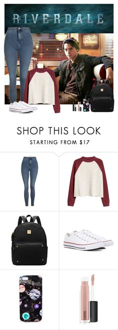 """Jughead Jones"" by hxrrybae ❤ liked on Polyvore featuring Topshop, Converse, Nikki Strange, MAC Cosmetics, Lancôme, jughead, Archie and riverdale"