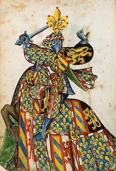 Philippe le Bon, Grand Armorial équestre de la Toison d'Or, Flandres, 1430-1461.