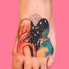 Raw Data by Jake Fried Anime Tattoos, Sexy Tattoos, Tatoos, Pretty Tattoos, Beautiful Tattoos, Qoutes Tattoos, Tatoo Heart, Ink Link, Okuda