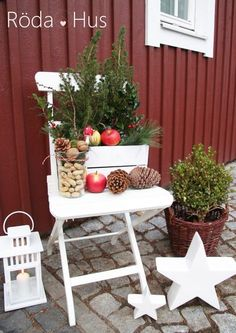 Deko – All About Christmas Christmas Porch, Outdoor Christmas Decorations, Rustic Christmas, Christmas Time, Christmas Crafts, Xmas, Table Decorations, Diy Pinterest, Rustic Planters