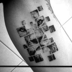 Stunning Realistic Fine Line Tattoos by Balazs Bercsenyi - KickAss Things Trendy Tattoos, Unique Tattoos, Beautiful Tattoos, Tattoos For Guys, Tattoos For Women, Small Tattoos, Hexagon Tattoo, Mandala Tattoo, Arm Tattoo
