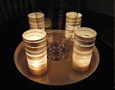 Decoração elegante com velas