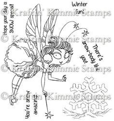 Snowball Fairy! [] - $11.99 : Kraftin Kimmie Stamps