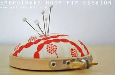 Free Tutorial - Embroidery Hoop Pincushion by Stacie