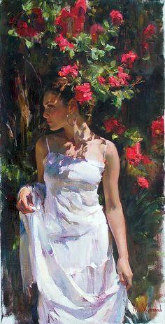 Red Flower Garden by Michael and Inessa Garmash