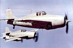 US Navy Grumman F4F-3/3A Wildcats from aircraft carrier USS Yorktown, 1941 (US Navy National Museum of Naval Aviation)