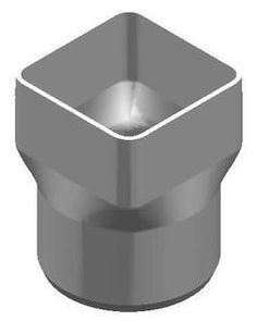 """The Drainage Products Store - PVC 5"""" x 5"""" x 6"""" SDR35 Downspout Adapter (Centered) (DSA x Spigot), $54.42 (http://stores.drainageproducts.us/pvc-5-x-5-x-6-sdr35-downspout-adapter-centered-dsa-x-spigot/)"""