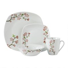 One of my favorite discoveries at ChristmasTreeShops.com: Cherry Blossom Porcelain Dinnerware