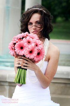 Bouquet gérberas rosas
