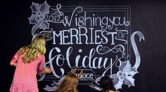 As a full-service marketing agency, our staff showcased its creative skill with video and creative design on a chalkboard message during the holiday season.