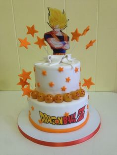 Dragon Ball Z Cake – Cake Decororations Goku Birthday, Dragon Birthday, Ball Birthday, 10th Birthday Parties, Birthday Fun, Birthday Cake, Dragonball Z Cake, Doodle Cake, Dragon Z