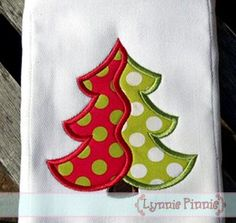 Embroidery Designs - Two Color Christmas Tree Applique 4x4 5x7 6x10 7x11 - Welcome to Lynnie Pinnie.com! Instant download and free applique machine embroidery designs in PES, HUS, JEF, DST, EXP, VIP, XXX AND ART formats.
