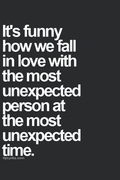 funny thing about falling in love