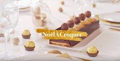 Offrez des saveurs par milliers avec la bûche chocolat-noisette de Ferrero Rocher.
