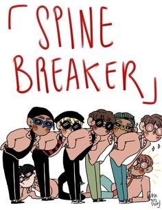 FanArt  - BTS no MV especial Spine Breaker