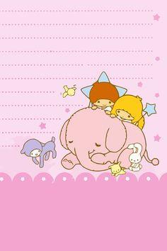 Kawaii pink elephant