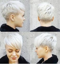 pixie schnitt rundes gesicht - All For New Hairstyles New Short Haircuts, Popular Short Hairstyles, Pixie Hairstyles, Bob Haircuts, Hairstyles 2018, Asymmetrical Hairstyles, Asymmetrical Pixie, Shaved Hairstyles, Cute Pixie Haircuts
