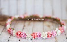 Wedding Flower crownBoho CrownRustic Bridal by LuckyKidsHandmade