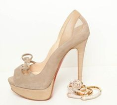 nude heels with a bit of icing