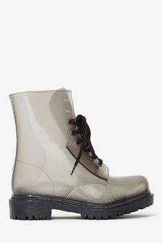 Roadie Combat Rain Boot - Gray | Shop What's New at Nasty Gal