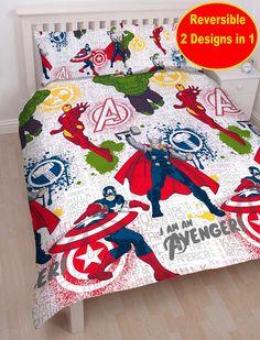 Marvel Avengers MISSION Rotary DOUBLE Duvet STAMP