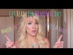 ❤ Get Ready for Memorial Day: Makeup, Hair, Outfit & Nails ❤ - YouTube  (sweatproof/waterproof)