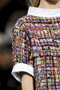 Woven Surfaces; Textured Patterns & Print - colourful pattern fashion // Chanel