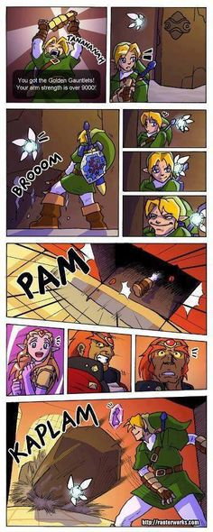 Then he got an idea, an awful idea. Link got a wonderful, awful idea. 3:)