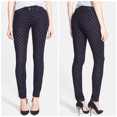 SALE❗️Paige Jeans Diamond Pattern Skinny Jeans Super cute and perfect dressed up or down! Brand new with tags. No trades!! 12281523tmr Paige Jeans Jeans Skinny