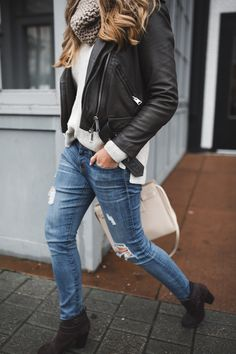 Moto Jacket with jeans