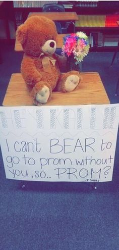 Such a cute way to ask someone to prom! I love it! ❤️