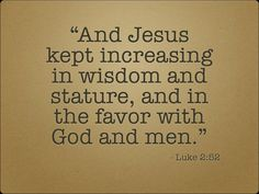 Luke 2:52 | re-Ver(sing) Verses