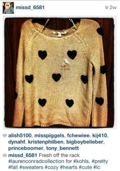 lc lauren conrad sweater #hearts