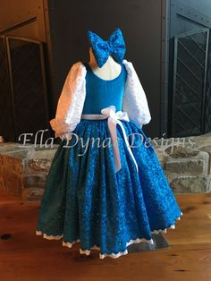 ENTREGA W/RUSH Belle Provincial azul vestido de HALLOWEEN