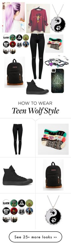 """Untitled #176"" by unicorn-rainbows on Polyvore featuring moda, J Brand, Converse, JanSport, Vans e CellPowerCases"