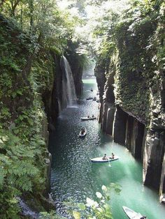 Monday's escape --> Paradise in Takachiho Gorge, Miyazaki, Japan Places Around The World, Oh The Places You'll Go, Places To Travel, Travel Destinations, Places To Visit, Travel Tips, Travel Goals, Travel Ideas, Wonderful Places