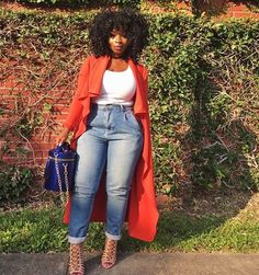 Ideas fitness inspo curvy shape for 2019 - Beauty beauté fashion la mode - FITNESS Curvy Girl Fashion, Black Women Fashion, Look Fashion, Denim Fashion, Plus Size Fashion, Womens Fashion, Autumn Fashion Curvy, Chic Outfits, Fall Outfits