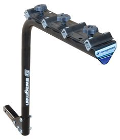 "Swagman 4-Bike Standard Rack (2"" Receiver). Transport up to 4 bikes. Fits into a 2"" receiver. New swedge design facilitates quick and easy assembly and disassembly for storage. Soft kraton cushions protect your bike. Recommended for the back of RV's."