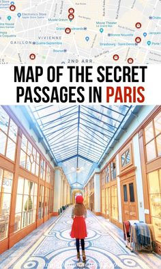 From antiques to luxurious, these are the 10 best covered passages in Paris. Paris covered passages provide a peek into a secret Paris that you won't want to miss! Map Of The Secret Passages Of Paris Cool Places To Visit, Places To Travel, Travel Destinations, Food Places, Travel Deals, Paris Travel Guide, Travel Guides, Travel Hacks, Travel Essentials