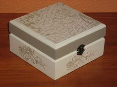Decoupage, Decorative Boxes, Blog, Home Decor, Decorated Boxes, Craft, Wood, Wooden Box With Lid, Stamps