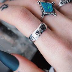Goth,Gothic,Celestial,Witch,Wiccan,Rhinestone A1 Midnight Ring,Boho,Bohemian