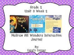 This 2nd grade interactive journal is aligned to Common Core and to the McGraw Hill Wonders series for Unit 3-Week 2. These journal entries allow students to be engaged while reading the text.