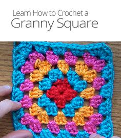 Granny squares are great beginner crochet patterns, but also give advanced crocheters opportunities to experiment with new variations. Learn to crochet one!