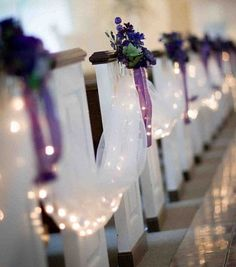 Inspiration gallery for purple wedding decor hitched cn wedding magazine 13 decoration ideas for the pew ends at your wedding ceremony junglespirit Images