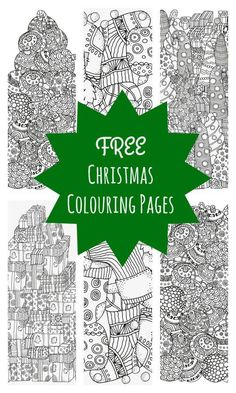 Free Christmas colouring pages